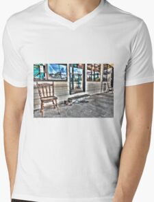 Two chairs. Mens V-Neck T-Shirt