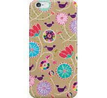 Fancy Folk Flowers iPhone Case/Skin