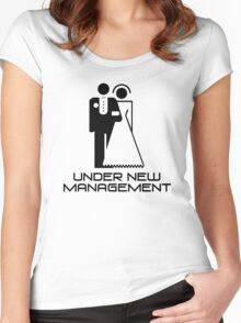 Under New Management Marriage Wedding Women's Fitted Scoop T-Shirt