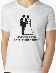 Under New Management Marriage Wedding Mens V-Neck T-Shirt