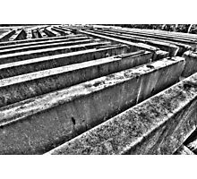 Road barriers. Photographic Print