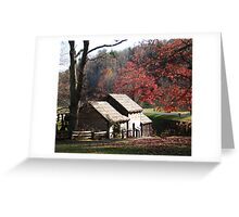 Mabry Mill in the Fall~ Greeting Card