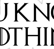 Know Nothing-GOT-Black Sticker