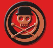 Orange Skull Clockwork Kids Tee
