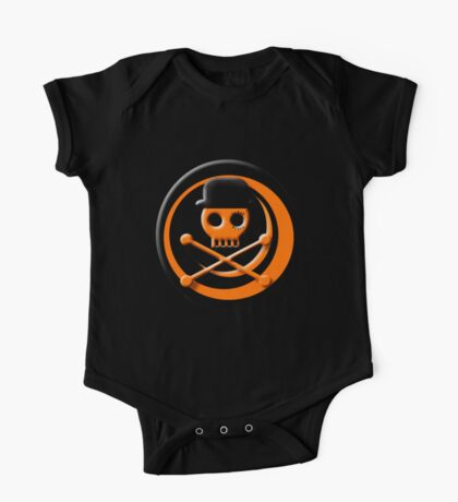Orange Skull Clockwork One Piece - Short Sleeve