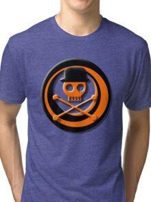 Orange Skull Clockwork Tri-blend T-Shirt