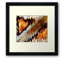 """""""Sawing Continents"""" Framed Print"""