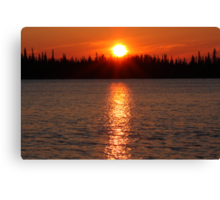 Fuzzy sunset Canvas Print