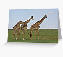 Giraffe Family Greeting Card
