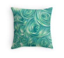 Swirly Whirly (Green) Throw Pillow