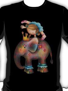 Circus tricks on an elephant T-Shirt