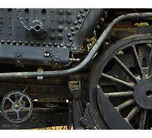 Black Train Wheels Photographic Print