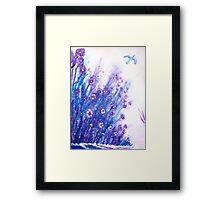 Frosty Flowers Framed Print