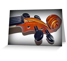 Play in Tune - Violin Vignette Greeting Card