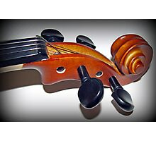 Play in Tune - Violin Vignette Photographic Print