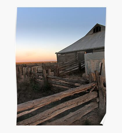 Old Shearing Shed, Mungo Lake National Park, NSW Poster