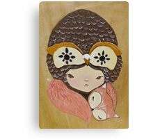 Willow & Foxy Canvas Print