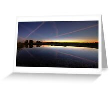 Nature and jet trails.  Greeting Card