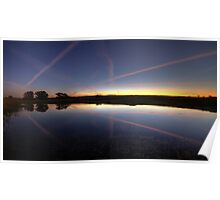 Nature and jet trails.  Poster