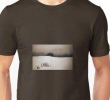 Old Barn - Fog & Snow Unisex T-Shirt