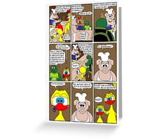 """Rick the chick  """"THE MAGIC SHELL (ITALIANO) parte 25"""" Greeting Card"""