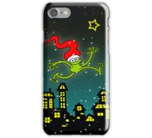 Christmas Frog Jumping out of Joy! iPhone Case/Skin