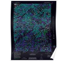 USGS Topo Map District of Columbia DC Anacostia 255997 1965 24000 Inverted Poster