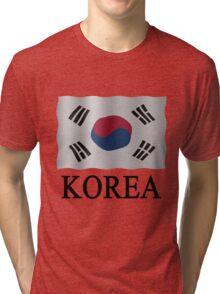 Korea Flag Tri-blend T-Shirt