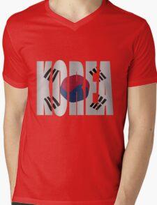 Korea flag Mens V-Neck T-Shirt