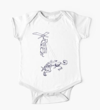 Cat helicopter serching #1 racer robo cat One Piece - Short Sleeve