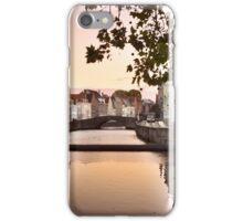 sunset over bruges iPhone Case/Skin