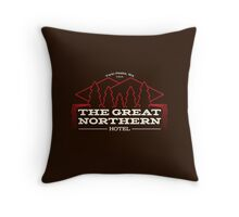 The Hotel of Twin Peaks Throw Pillow
