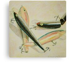 """Four Fishing Lures II"" Canvas Print"