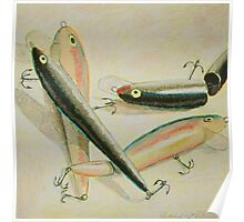 """Four Fishing Lures II"" Poster"