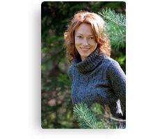 Portrait of woman in nature Canvas Print