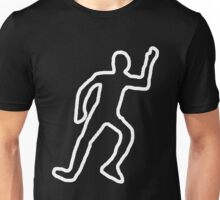 Dead body chalk outline Unisex T-Shirt
