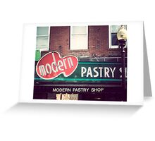 Boston's Modern Pastry Shop Greeting Card