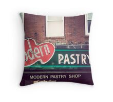 Boston's Modern Pastry Shop Throw Pillow