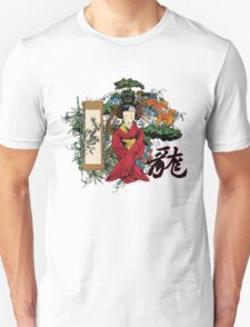 Geisha Dragon Unisex T-Shirt