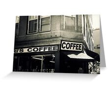 Boston North End Coffee Shop Greeting Card