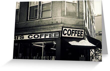 Boston North End Coffee Shop by JillianAudrey