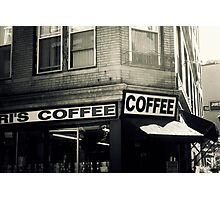 Boston North End Coffee Shop Photographic Print