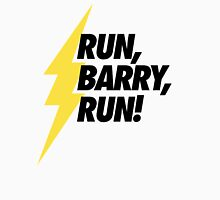 Run, Barry, Run! (Black on White) Unisex T-Shirt