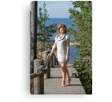 Women at the sea Canvas Print