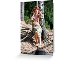 Woman in dune Greeting Card