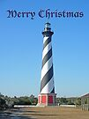 Cape Hatteras Lighthouse - Outer Banks - Christmas Card by MotherNature