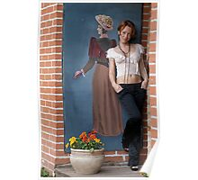Women and retro picture Poster