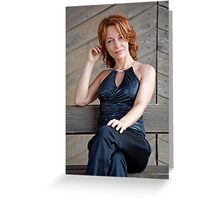 Beauty adult woman Greeting Card