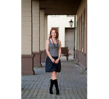 Beauty woman on the pavement street. Photographic Print