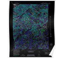 USGS Topo Map District of Columbia DC Anacostia 255891 1965 24000 Inverted Poster